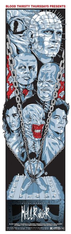 HELLRAISER 11 x 36 Poster Print LtdEd80 by PittidesArtStudios, $25.00