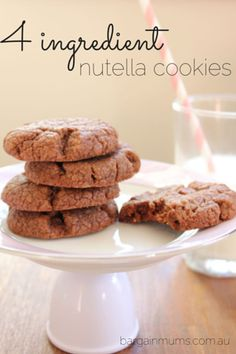 These 4 ingredient Nutella cookies are another easy recipe that you can throw together in just a few minutes, and..