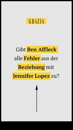 Sechzehn Jahre nach der Verlobung mit Jennifer Lopez zieht Ben Affleck nun Bilanz und spricht über die Dinge, die damals schief gelaufen sind... #grazia #grazia_magazin #jenniferlopez #benafflek #beziehungsfehler #starpaare #promipaare #pärchen #starnews #ex #liebesaus #trennungen