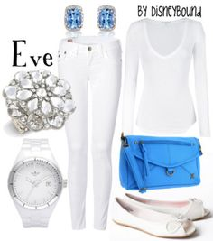 Eve (Wall-E) By DisneyBound. Wish I were skinny enough to rock an all-white ensemble!
