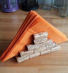 recycled wine cork napkin holder