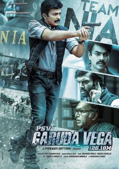 Here's the new poster of #GarudaVega starring #Tollywood actor #Rajashekar