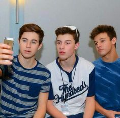 Nash Grier, Shawn Mendes, and Cameron Dallas
