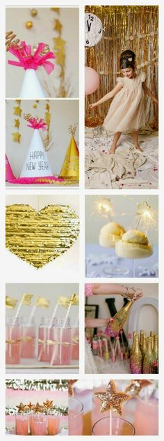 Pink and Gold DIY New Years Eve ideas, inspiration, projects :) pin now...read later!!
