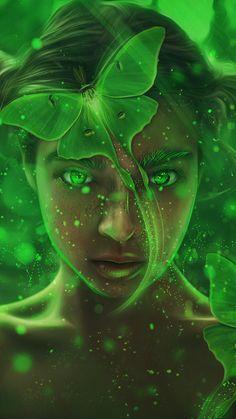 Fantasy, girl, forest, magic fairy, art, 720x1280 wallpaper