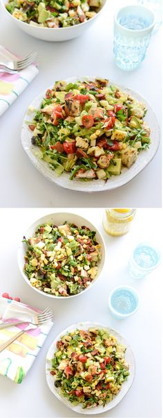 BBQ Chicken Chopped Salad I howsweeteats.com....oh hubby would love this!