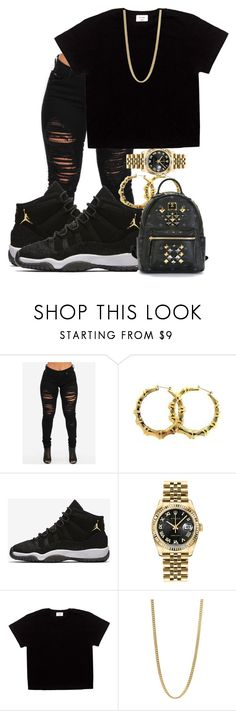 """❤"" by kashharmonii ❤ liked on Polyvore featuring NIKE, Rolex, Marc by Marc Jacobs and MCM"