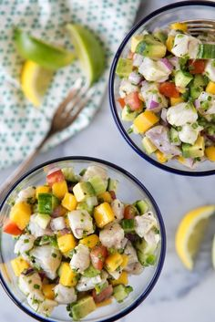 Chunks of crunchy cucumber, velvety avocado and silky mango marry well with Chilean or Mexican sea bass.
