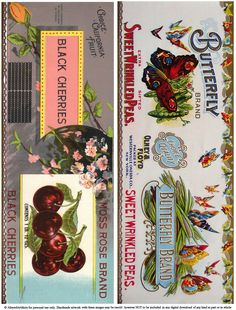 Free Printable Can Labels Vintage Brands Images For Decoupage and Collage