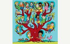 adrienne barman, illustratrice graphiste | quelle famille! créer son arbre généalogique pour retrouver ses ancêtres | hebdomadaire «l'illustré»