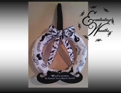 Mustache Wreath by EverlastingWreaths1 on Etsy, $90.00