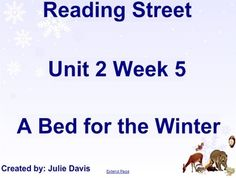 A Bed for the Winter SmartBoard Companion Reading Street K