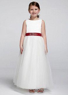 Satin sleeveless bodice with tulle skirt. Style S1038 - $99