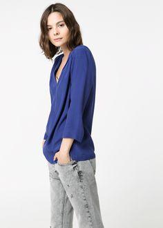 Pendant flowy blouse