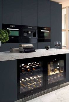 12 Nice Ideas for Your Modern Kitchen Design black kitchen units interior design Cabnits Kitchen, Kitchen Units, Kitchen Layout, Ikea Kitchen, Kitchen Pantry, Kitchen Appliances, Kitchen Ideas, Kitchen Decor, Kitchen Cabinets
