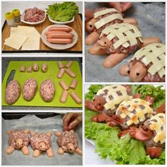 Check Out These Simple Cooking Tips! Food Art For Kids, Cooking With Kids, Cheese Appetizers, Appetizer Recipes, Animal Shaped Foods, Cute Food, Good Food, Fruits Decoration, Scotch Eggs Recipe