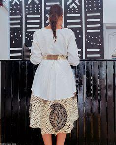 Kelly dress - white by woen-ilga - Short dresses - Afrikrea African Dresses For Kids, African Wear Dresses, African Fashion Ankara, Latest African Fashion Dresses, African Print Fashion, African Attire, African Traditional Dresses, Classy Dress, Short Dresses