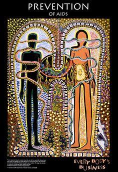 25 Years of Aids Awareness Posters - Osocio Aids Poster, Poster On, Aids Awareness, Aboriginal Painting, Aboriginal People, Maori Art, Australian Art, Art Forms, Book Art