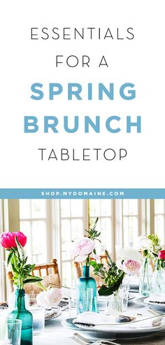 There's something about spring that makes us want to host an elaborate brunch. Whether it's for Mother's Day or to show off our freshly spring-cleaned home, any excuse is good!