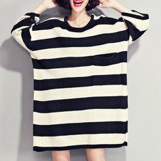 striped oversized sweater| $26.53  nu goth pastel goth grunge punk goth fachin sweater top under30 rosegal free shipping