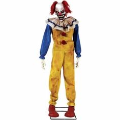 Scary Halloween Clown Props Halloween Decoration Twitching Clown Animated Prop…