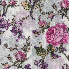 Simply Silky Prints- Floral Pink  Purple Eyelash, Item #: 12949970