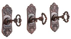 "6-1/8""L Cast Iron Key in Lock Hook, 3 Styles"