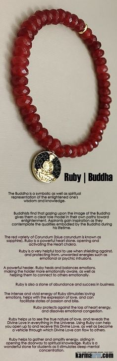#BEADED #Yoga #Charm #BRACELETS  ♛ #Ruby, a powerful love stone, is also a stone of abundance and success in business.. #Mens #Jewelry #Buddha #Eckhart #Tolle #Crystals #Energy #gifts #Handmade #Healing #Kundalini #Law #Attraction #LOA #Love #Mala #Meditation #prayer #Reiki #mindfulness #wisdom #Fashion #Spiritual #Buddhist #Tony #Robbins #Gifts #Womens