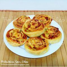 Pizza Enrolada na AirFryer - Fritadeira sem Óleo - AirFryer