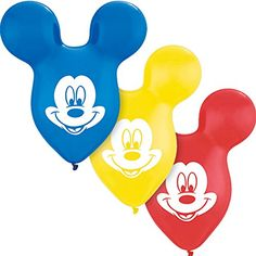 Mickey Mouse Clubhouse Ear Balloons in Random Colors 2ct >>> Check out this great product.
