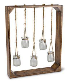 Hanging Glass Jar Wall Garden Decoration | zulily