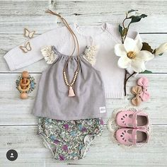Love love love flowy tops and bloomers with adorable leather shoes.