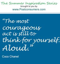 Summer Inspiration Quote: Think For Yourself