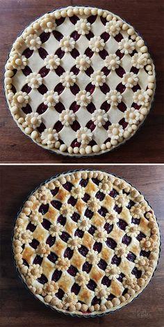 Pie Dessert, Dessert Recipes, Creative Pie Crust, Beautiful Pie Crusts, Pie Crust Designs, Pie Decoration, Pies Art, Just Desserts, Baking Recipes