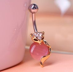 New Arrival Cat Eye Animal Piercing Navel Ring 316L Steel Plug Belly Button Ring…