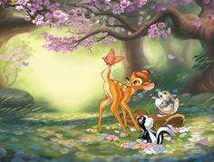Bambi 'Butterfly Fun' wall mural by ProArt