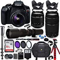 and Deluxe Bundle; Includes: SanDisk Ultra 64GB Memory Card and More Canon EOS 90D DSLR Camera with EF-S 18-55mm f//3.5-5.6 is STM Lens 500mm Telephoto Lens