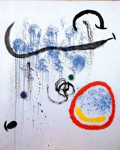 """Joan Miro. """"The Birth Of Day III"""", 1964. Oil on canvas, 162 x 130cm."""
