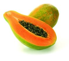 Papaya: A natural source of Vitamin-A, Vitamin-C and proteolytic enzymes. Papaya promotes digestion with its own fiber and potassium and helps break down the protein intake. Remedies For Menstrual Cramps, Cramp Remedies, Natural Skin Whitening, Stop Acid Reflux, Irritable Bowel Syndrome, Health And Nutrition, Health Fitness, Natural Remedies, Tenerife