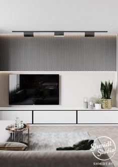 11 veces he visto estas lindas muebles minimalistas. Tv Cabinet Design, Tv Wall Design, Apartment Interior Design, Living Room Interior, Living Room Tv Unit Designs, Home Room Design, Minimalist Room, Piece A Vivre, House Rooms