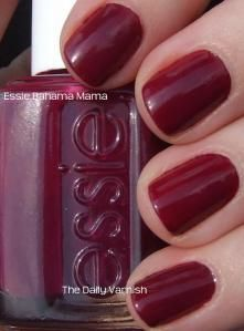 Bahama Mama by Essie. Great Fall color, a lovely pulm-wine.