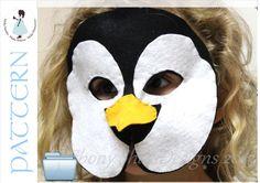 Penguin mask PDF Pattern.  One size fits most.  by EbonyShae