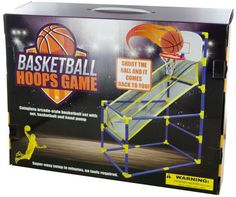Shoot the ball and watch it return to you with this fun Arcade-Style Basketball Hoops Game featuring a complete basketball set with a net, backboard, mini baske Basketball Shoes Kobe, Indoor Basketball Hoop, Logo Basketball, Basketball Shooting, Basketball Goals, Hoop Games, Arcade Game Room, Game Room Kids, Indoor Games