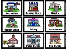 Map Skills: Hands On Maps Center Social Studies Preschool Charts, Preschool Ideas, Veterinarian School, Community Picture, Community Helpers Preschool, Writing Anchor Charts, Map Skills, Vocabulary Building, English Activities