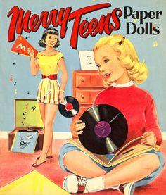 Merry Teens Paper Dolls, 1953.