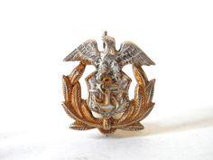 US Merchant Marine Eagle & Anchor Sterling Badge