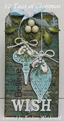 Wish Christmas Tag...Scrap from Bemmel.: