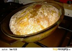 Domácí chleba z trouby recept - TopRecepty.cz Cas, Dumplings, Bakery, Food And Drink, Cooking Recipes, Health Recipes, Education, Bakery Store, Diet