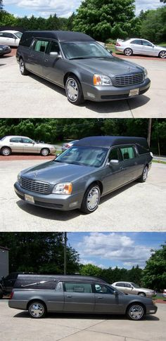 2000 Cadillac Deville Hearse [just out of service] Silver Car, Grey Leather, Cadillac