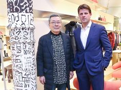 Anthony Ledru, President & CEO of Louis Vuitton Americas, celebrated the newly renovated Louis Vuitton SoHo store with architect Peter Marino and featured artist, Shuji Mukai on February 2, 2017.